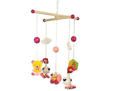 BIGJIGS Pink Stork Mobile