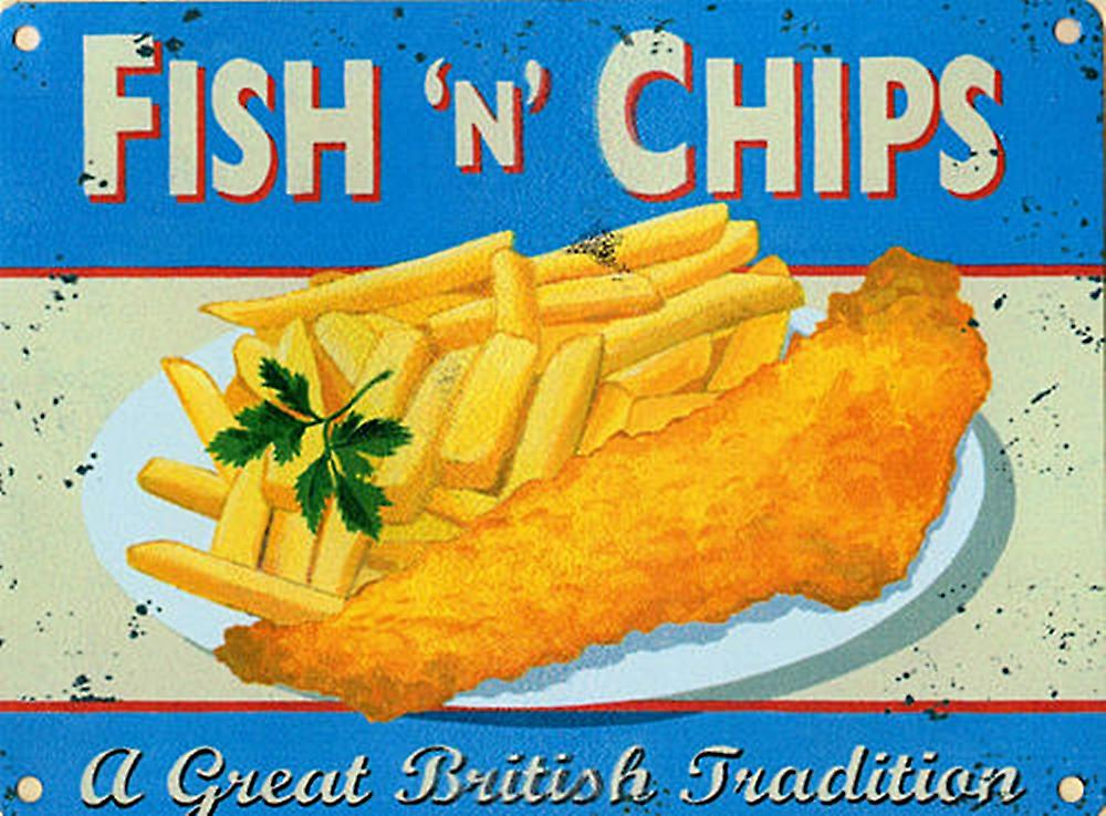 Fish N Chips metal sign  (og 2015)