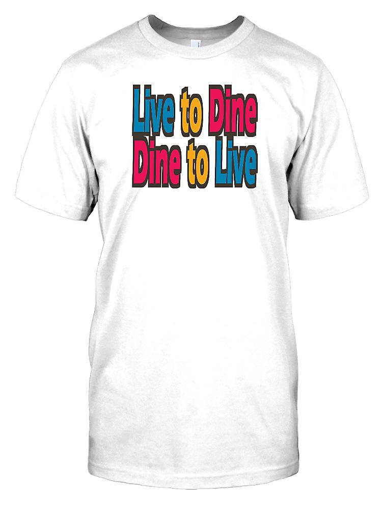 Live To Dine Dine To Live - Funny Quote Kids T Shirt