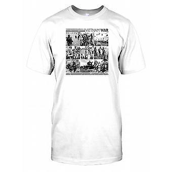 Vietnam War Photomontage Mens T Shirt
