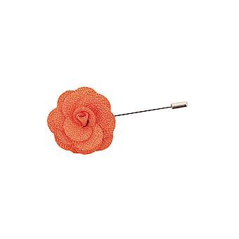 Dobell Herre Orange blomst revers Pin for kulør, jakke, Blazer, bryllup tilbehør