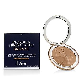 Christian Dior Diorskin Mineral Nude Bronze Healthy Glow Bronzing Powder - # 03 Soft Sundown - 10g/0.35oz