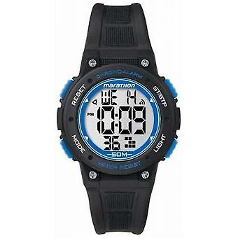 Timex Marathon Digital Black Rubber Strap Blue TW5K84800 Watch