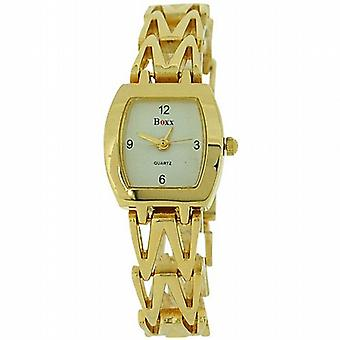 Boxx analogique couleur or métal Bracelet sangle Ladies Dress Watch 4613