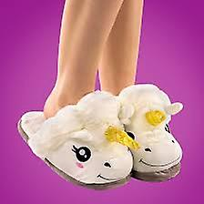 White Unicorn Slippers for Adults. Warm and Comfy !