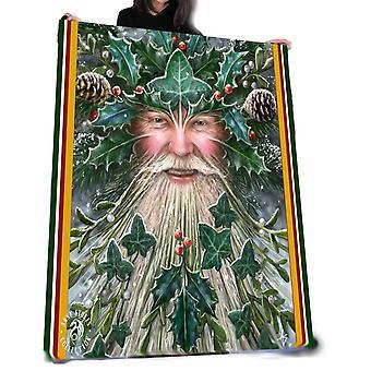 Wild star hearts - spirit of yule - fleece blanket / throws / tapestry