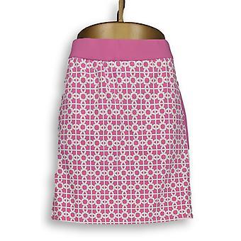 C. wonder vrouwen ' s shorts trellis print pull-on skort roze A289704