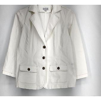 Joan Rivers Classics Kollektion Blazer Stretch Denim Weiß A262274