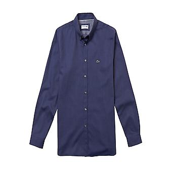 Lacoste Slim Fit Long Sleeved Shirt Blue Marine