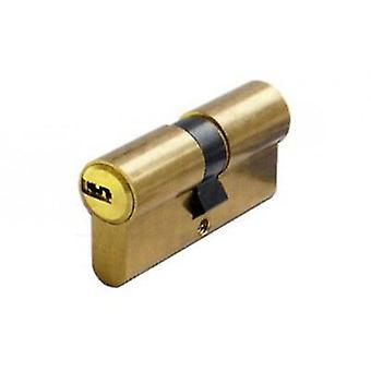 ABUS europeiske sylinder prikker nøkkel d6 30 + 40 5k + t. messing. (DIY, maskinvare)