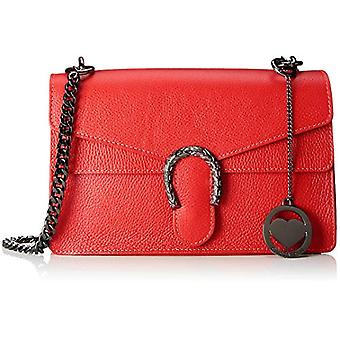 Chicca Bags Cbc3310tar Women's Shoulder Bag Red 7x18x27 cm (W x H x L)