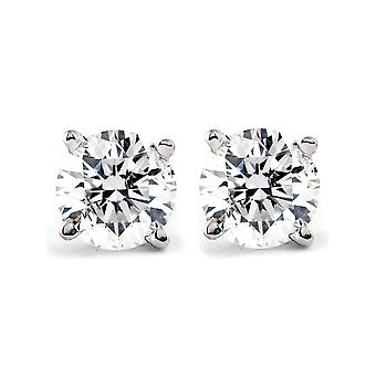 1/3 Ct TDW Diamond Studs Available in 14k White or Yellow Gold