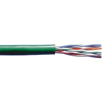 Network cable CAT 5e U/UTP 4 x 2 x 0.20 mm² Green Belden 7988R Sold per metre