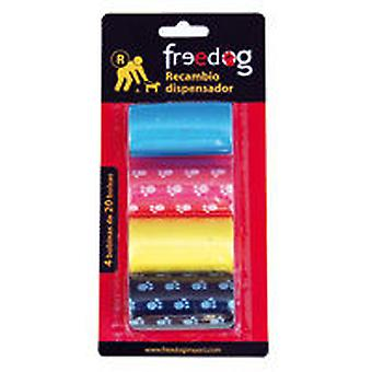 Freedog ricambio Dispenser (4 bobine X 20 borse)