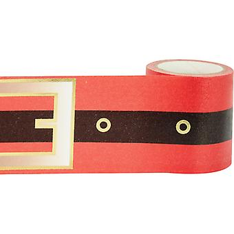 Little B Decorative Foil Tape 46mmx5m-Gold Foil Santa Belt LBFT46MM-2242