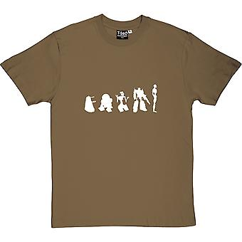 Evolution Of Robots Men's T-Shirt