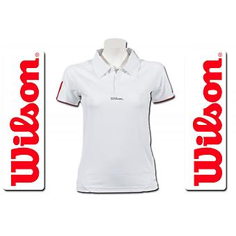 Wilson Damen Performance Polo weiß/rosé WRE10830014