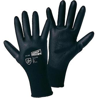 worky 1152 MICRO black polyamide PU-partial coated fine-knitted gloves 100 % polyamide with PU-coating Size 10