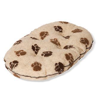 Fleece Paw Beige/brown Quilted Mattress 61cm (24