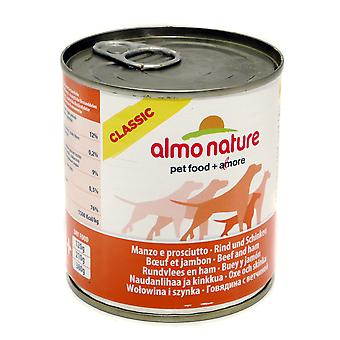 Almo Nature Classic Dog Adult Beef With Ham 290g (Pack of 12)