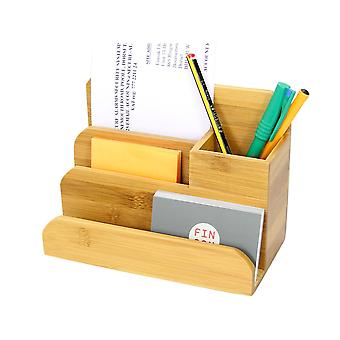 Woodquail Bamboo Small Desk Organiser Pen Holder