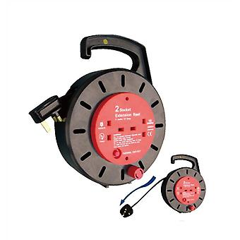 5m Cable Reel met 2 Sockets - 10A