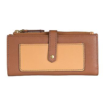 FOSSIL ladies purse wallet purse Brown 5862