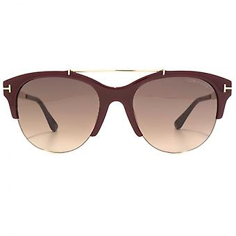 Tom Ford Adrenne Sunglasses In Shiny Bordeaux