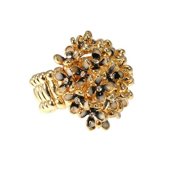 W.A.T Flower And Crystal Cluster Ring
