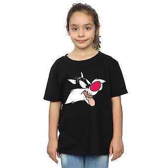 Looney Tunes Girls Sylvester Face T-Shirt