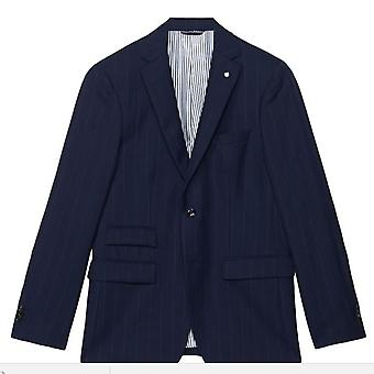 GANT Mens The Pinstripe Blazer 2BT Tailored Fit - Navy