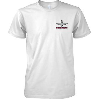 Licensed MOD -  Utrinque Paratus - Parachute Regiment Logo -  - Kids Chest Design T-Shirt