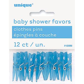 Unique Party Plastic Baby Shower Favor Pegs (Pack Of 12)
