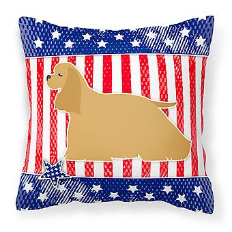 USA Patriotic Cocker Spaniel Fabric Decorative Pillow