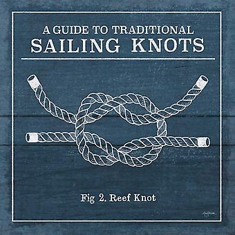 Vintage Sailing Knots III Poster Print by Mary Urban