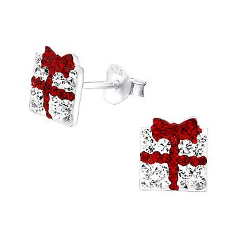 Present - 925 Sterling Silver Crystal Ear Studs