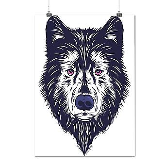 Matte or Glossy Poster with Wolf Deep Look Animal | Wellcoda | *d2016