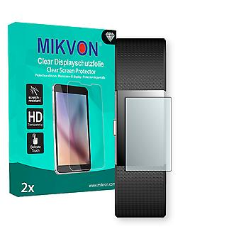 Fitbit Charge 2 Screen Protector - Mikvon Clear (Retail Package with accessories) (intentionally smaller than the display due to its curved surface)