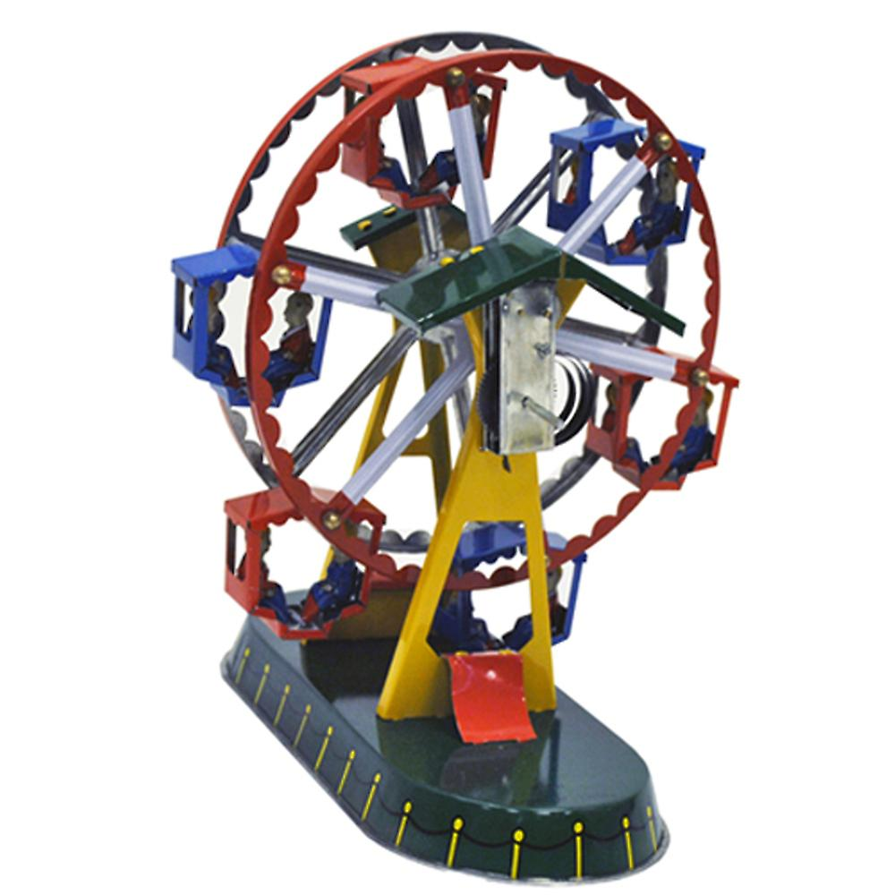 Ferris Wheel - Spinning Wind Up Clockwork Retro Tin Collectable Ornament - Multi-coloured