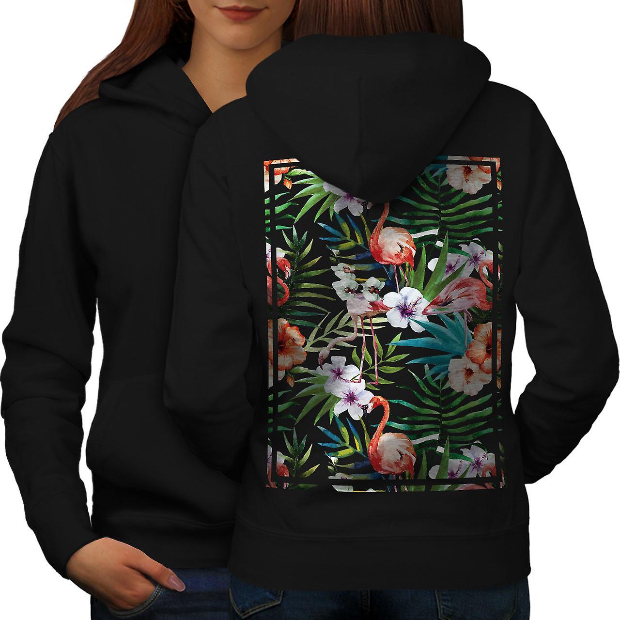 Flamigo fleur femmes noirHoodie dos
