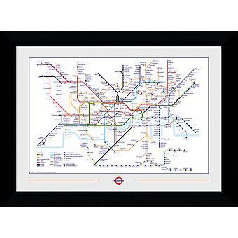Transport For London Underground carte encadrée Collector Print
