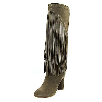 INC International Concepts Tolla Women Round Toe Suede Gray Knee High Boot
