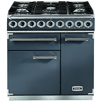 FALCON F900DXDFSL/NM 900 Deluxe Dual Fuel Range Cooker, Slate/ Nickel