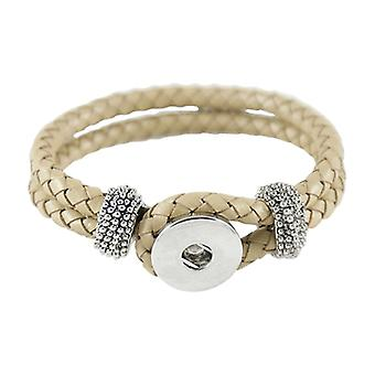 Leather Bracelet For Click Buttons Cream Kb0840