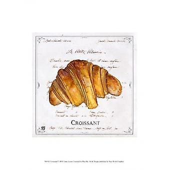 Croissant Poster Print by Ginny Joyner (10 x 13)