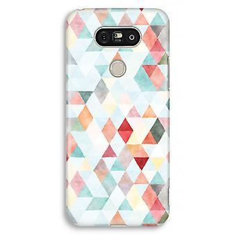 LG G5 Full Print Case - Coloured triangles pastel