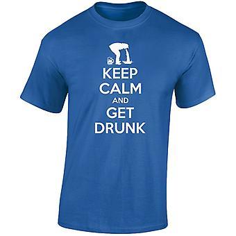 Keep Calm And Get Drunk Mens T-Shirt 10 Colours (S-3XL) by swagwear