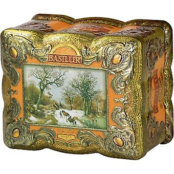 Basilur Tea - Amber Treasure Chest - Loose Black Tea In Tea Caddy
