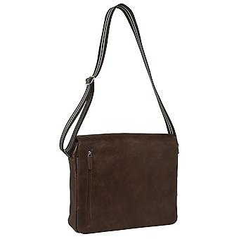 Burgmeister ladies / gents shoulder bag T213-215 leather brown