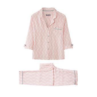 بيجاما بنطلون الطباعة ريشة مجموعة الوردي